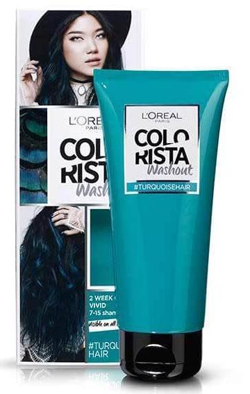 L'Oreal, Colorista, Wash in Dye, Semi Permanent, vibrant hair dye, turquoise hair dye