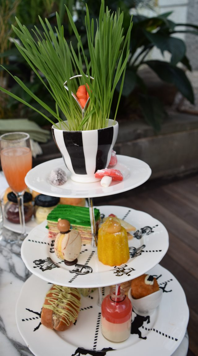 alice in wonderland, afternoon tea, afternoon tea in london, the sanderson hotel, fitzrovia, pin up girl clothing, ella dress, days out in london