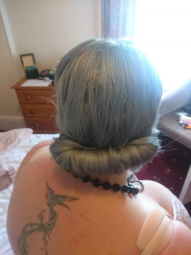 hair colour, semi permanent, hermans amazing direct hair colour, grey hair, londonedge, steel grey, gilda, hair dye, vegan friendly, not animal testing, no bleach