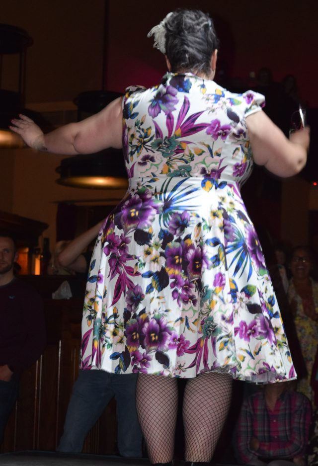 bohemian finds, fashion show, plus size fashion, vintage fashion show, lingerie modelling, ann summers, hell bunny, hearts & roses, dolly and dotty, plus size girls, catwalk modelling,